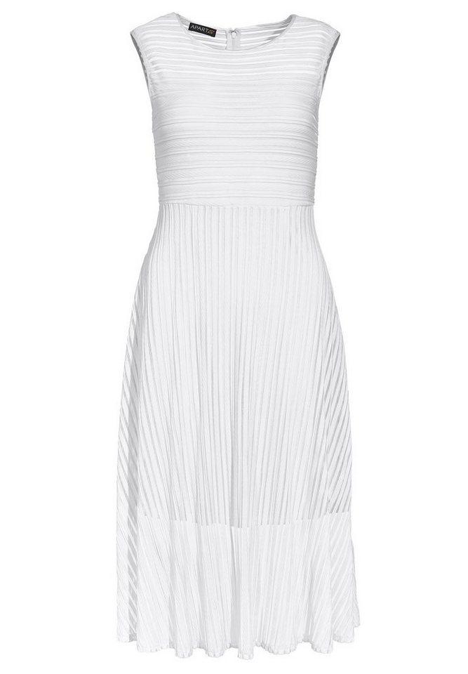Apart Kleid Ärmellos in weiß