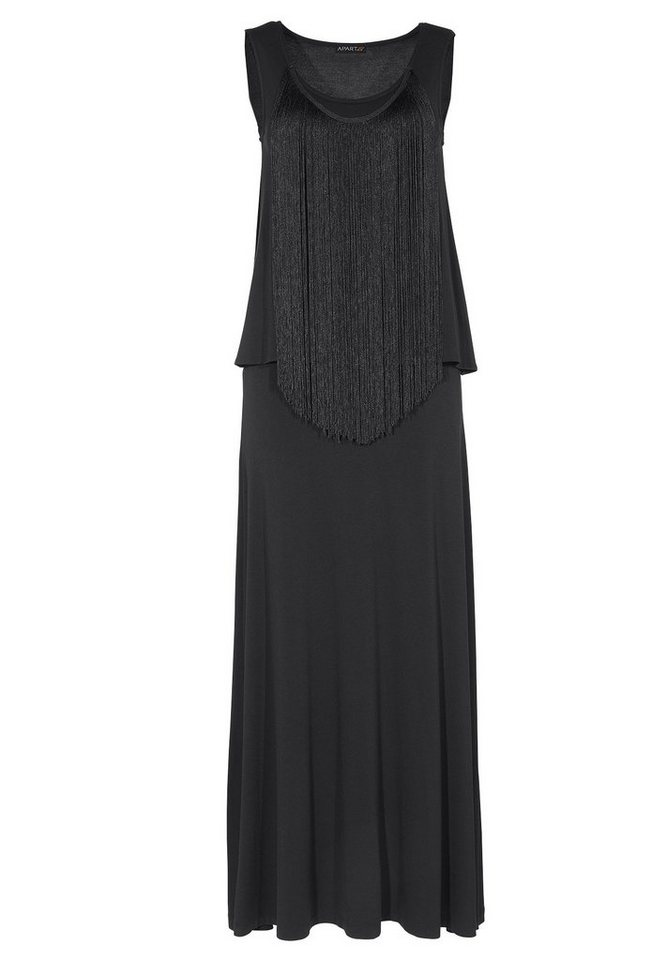 Apart Jerseykleid Ärmellos in schwarz