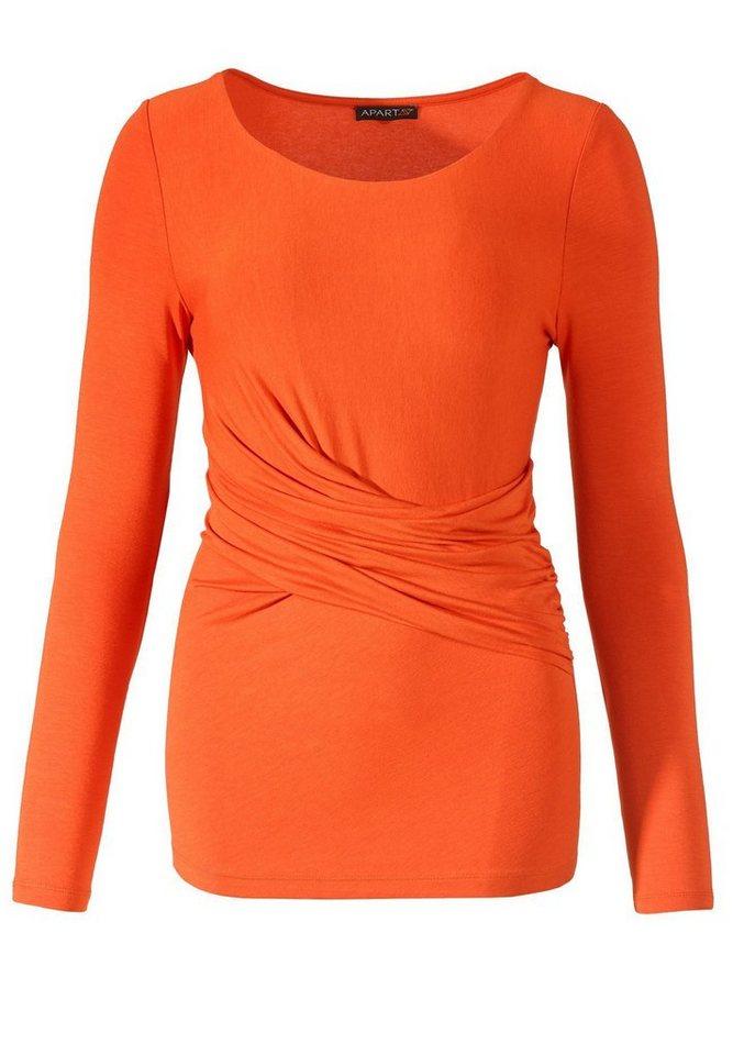 Apart Shirt Rundhals in orangerot