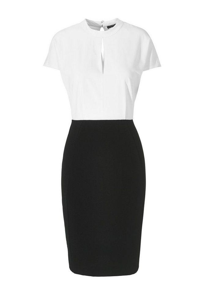 Apart Kleid Kurzarm in schwarz-weiß