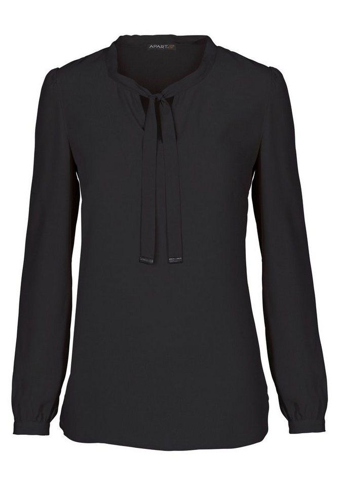 Apart Bluse V-Ausschnitt in schwarz
