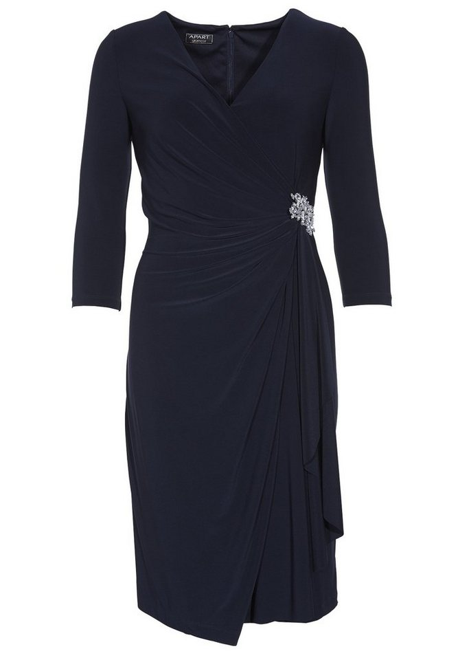 Apart Jerseykleid Dreiviertelarm in nachtblau
