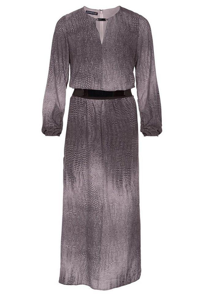 Apart Kleid Langarm in schlamm-multicolor
