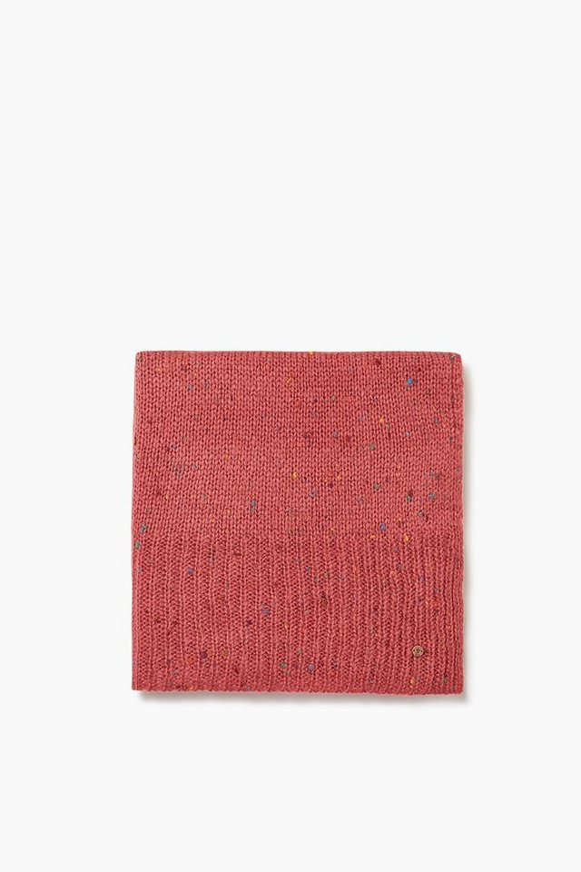 EDC Oversize Schal mit bunten Noppen in RED