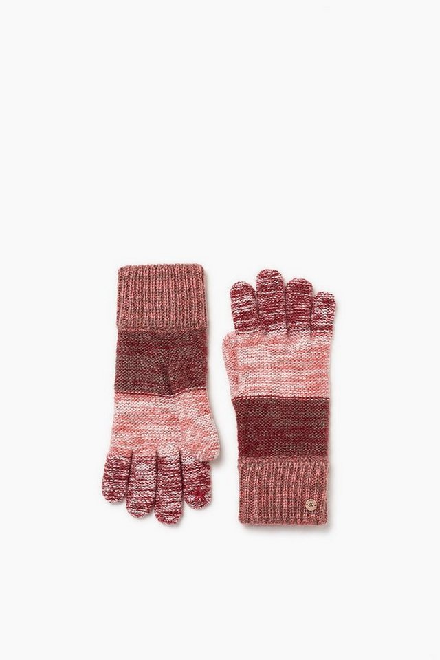 EDC Touchscreen Strickhandschuhe in BORDEAUX RED