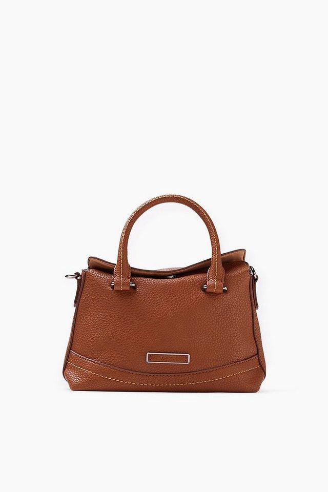 ESPRIT CASUAL Kleine City Bag mit markanter Lederoptik in CINNAMON