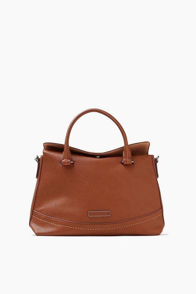 ESPRIT CASUAL Softe City Bag mit markanter Lederoptik in CINNAMON