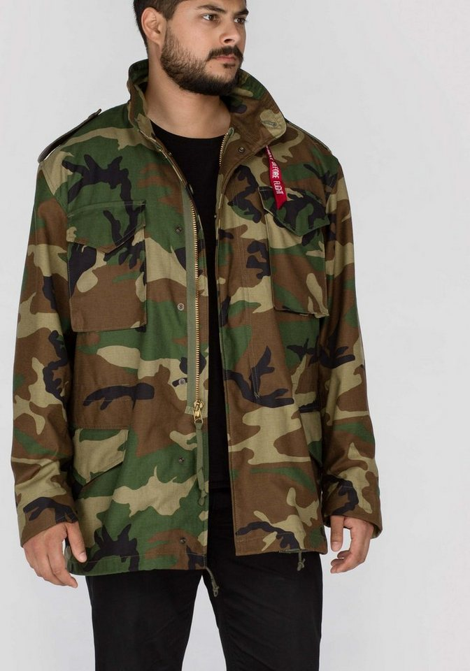 ALPHA INDUSTRIES Jacke »M-65« in woodl.-camo