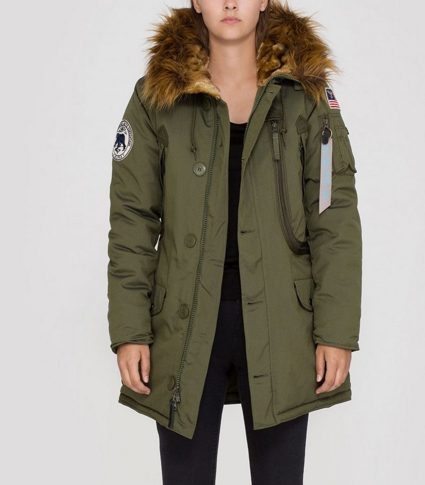 ALPHA INDUSTRIES Jacke »Polar Jacket Wmn« in dark green