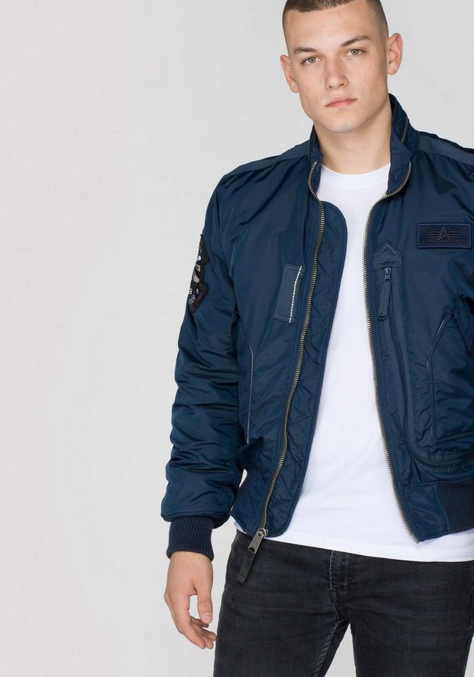 ALPHA INDUSTRIES Jacke »Engine« in rep.blue