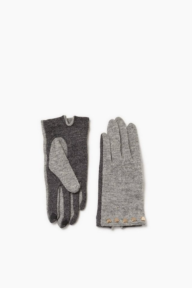 ESPRIT CASUAL Touchscreen Strickhandschuhe mit Herzen in GREY