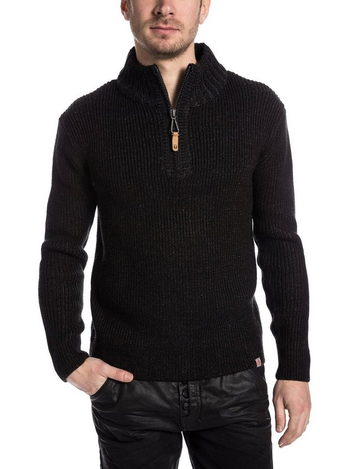 TIMEZONE Pullover »StoertebekerTZ« in night black melange