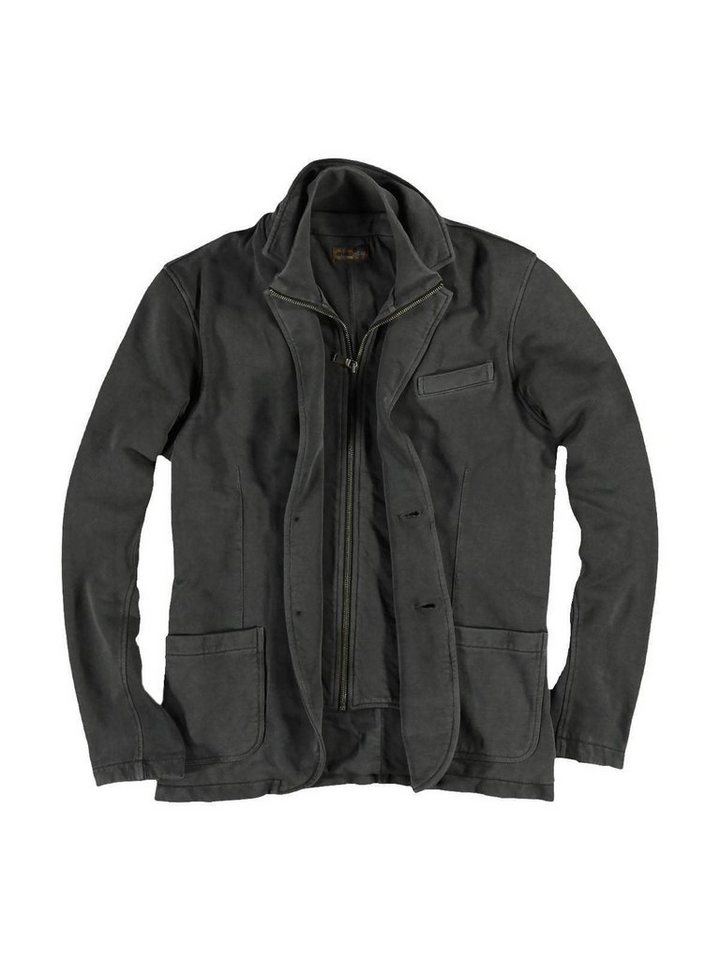 emilio adani Sweatshirt V-Ausschnitt in Zementgrau