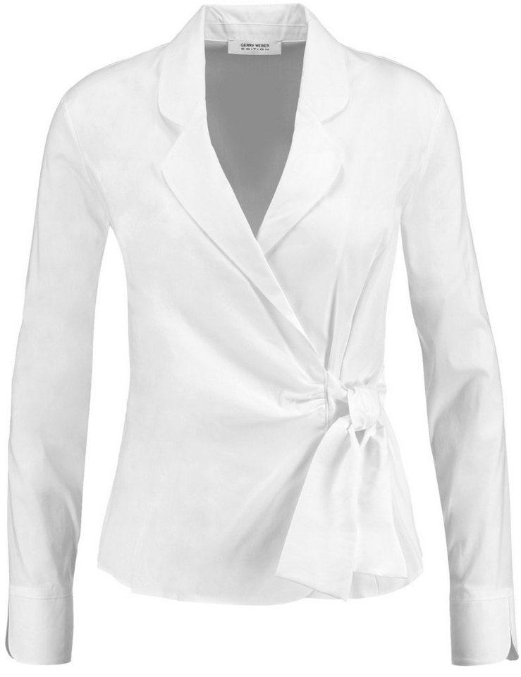Gerry Weber Bluse Langarm »Bluse mit dekorativem Bindeband« in Weiß-Weiß