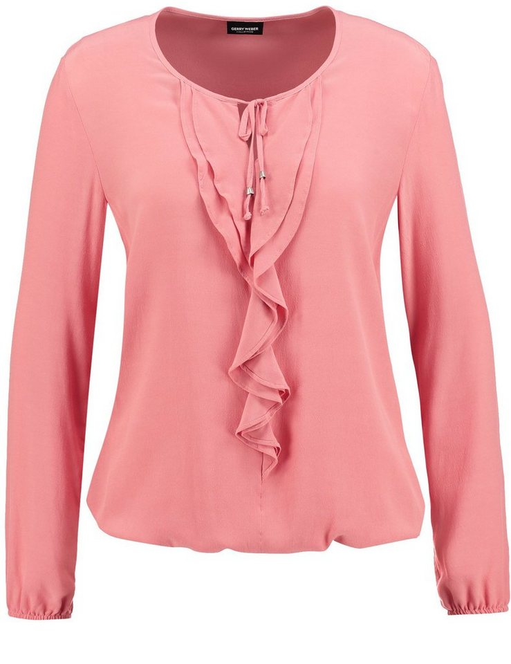 Gerry Weber Bluse Langarm »Bluse mit Volant« in Lachs