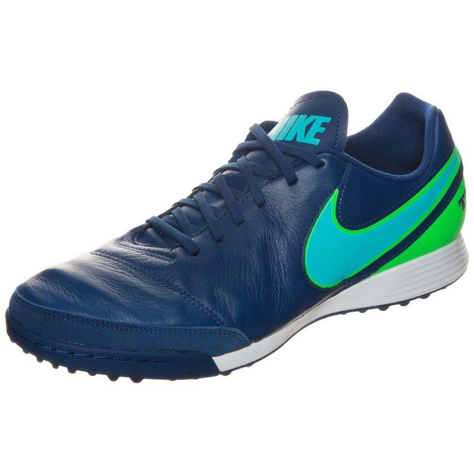 NIKE Tiempo X Genio II Leather TF Fußballschuh Herren in blau / grün
