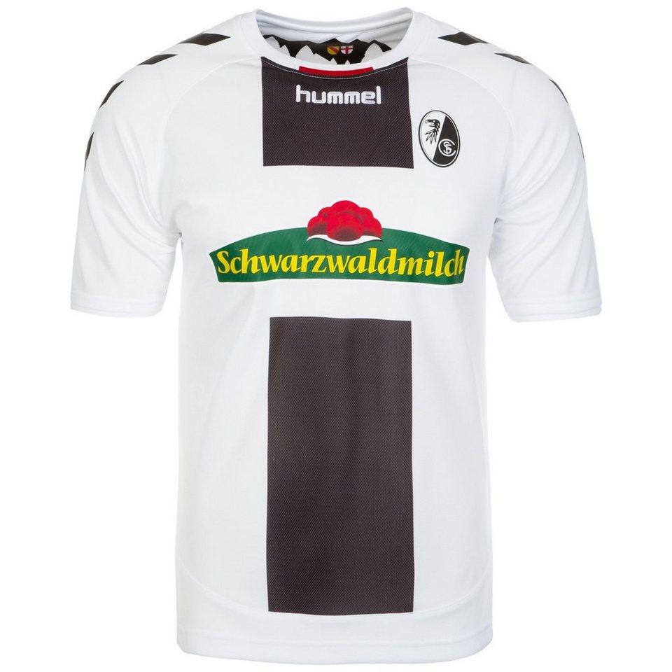 HUMMEL TEAMSPORT SC Freiburg Trikot Away 2016/2017 Herren in weiß / schwarz