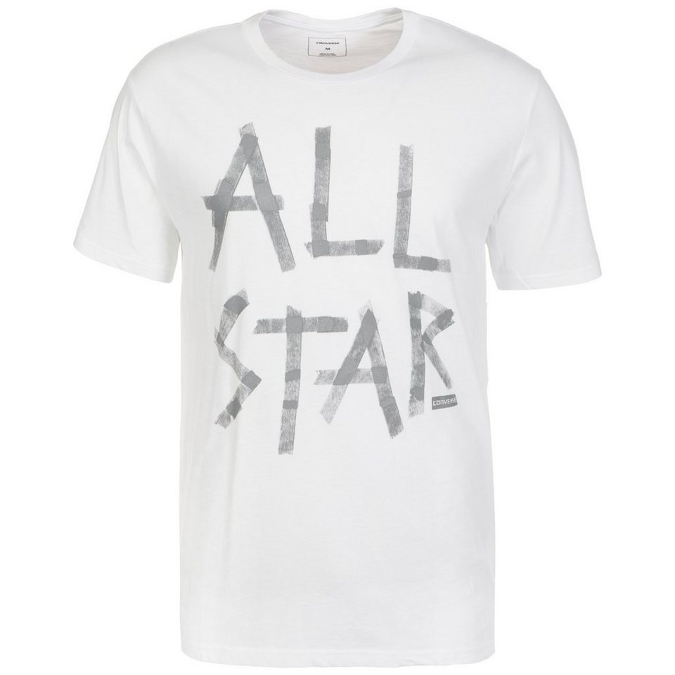 CONVERSE Reflective Tape All Star T-Shirt Herren in weiß / grau