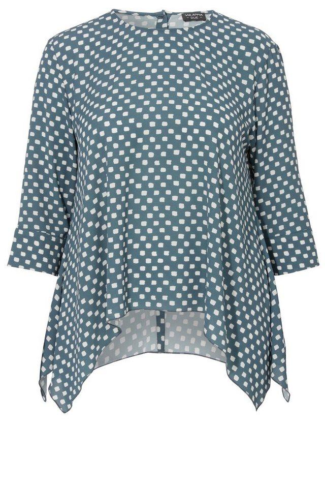 VIA APPIA DUE Modische Bluse im weiten A-Schnitt in ECRU / TINTE