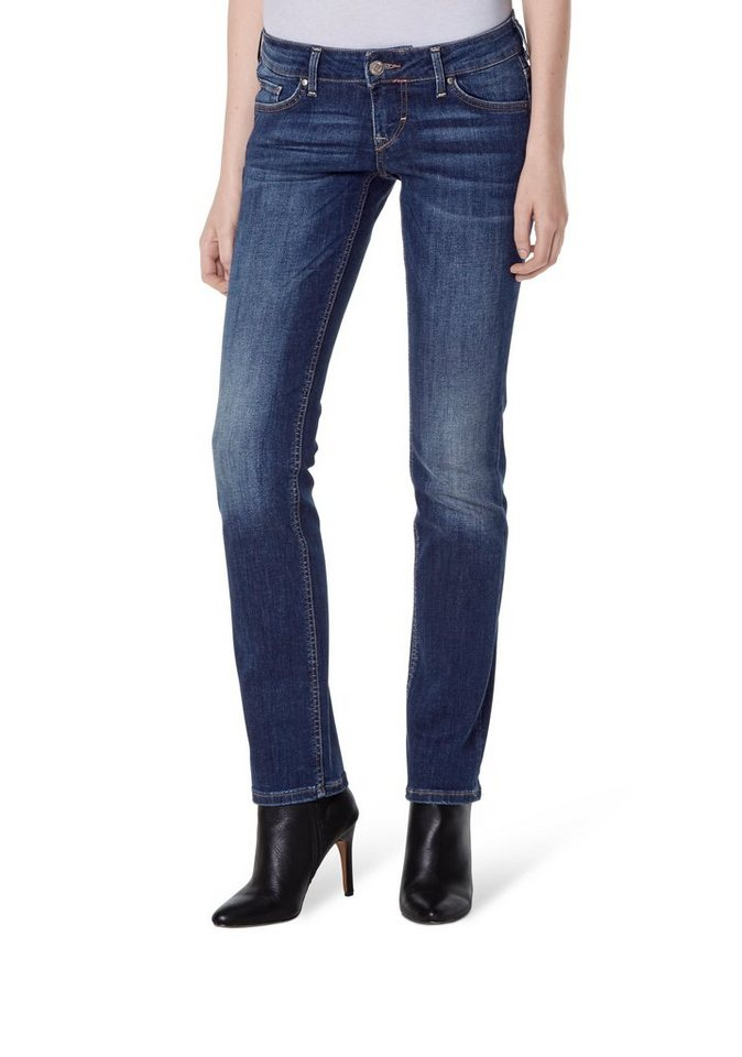 MUSTANG Jeans »Gina Straight« in scratched used