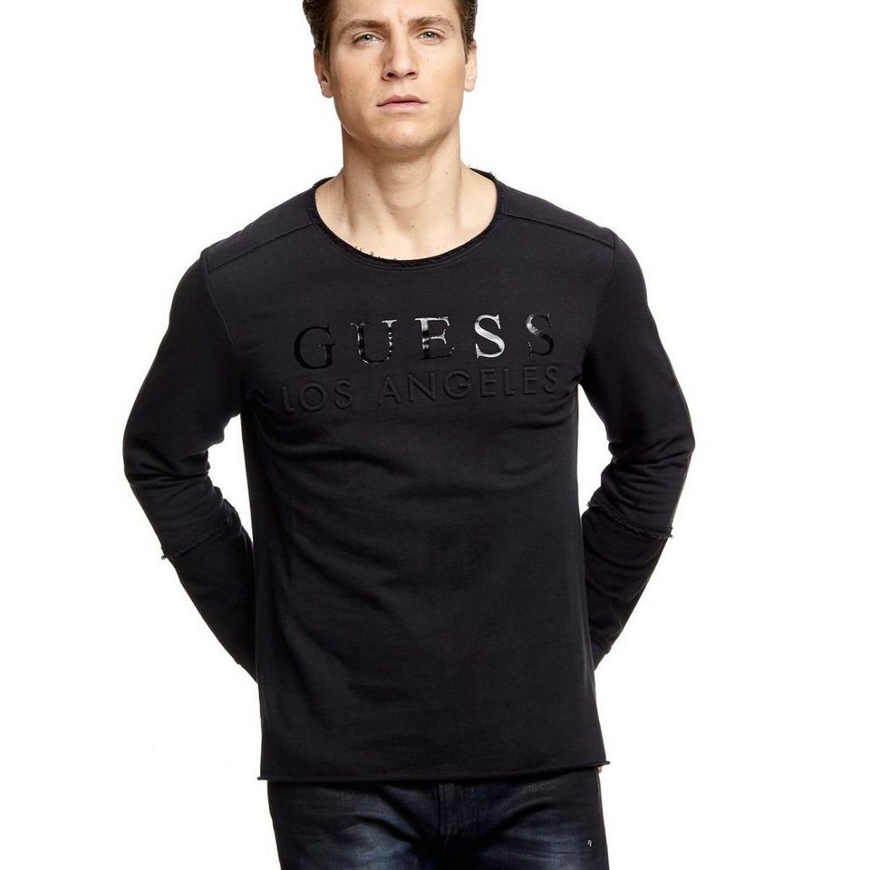 Guess LOGO-SWEATSHIRT in Schwarz
