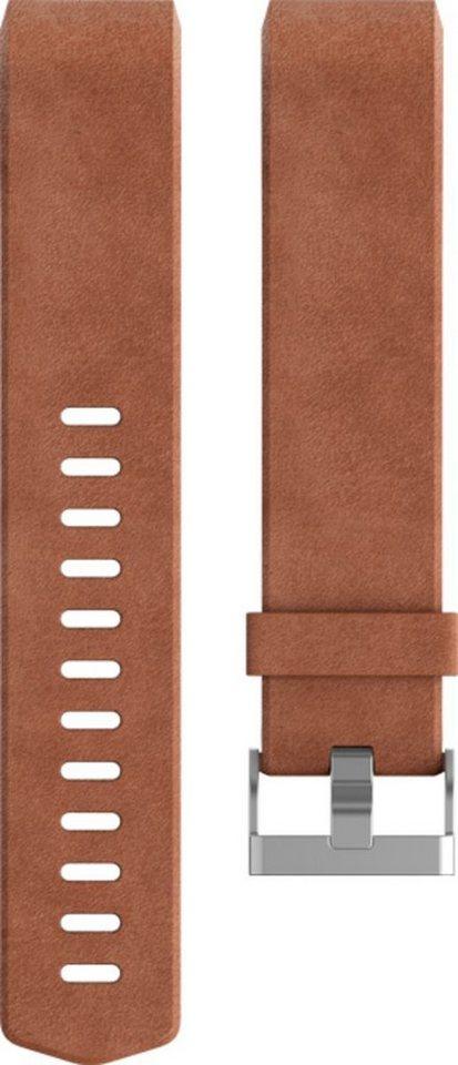 fitbit Ersatz-/Wechselarmband »LederBand für Charge2 (Small)« in Braun
