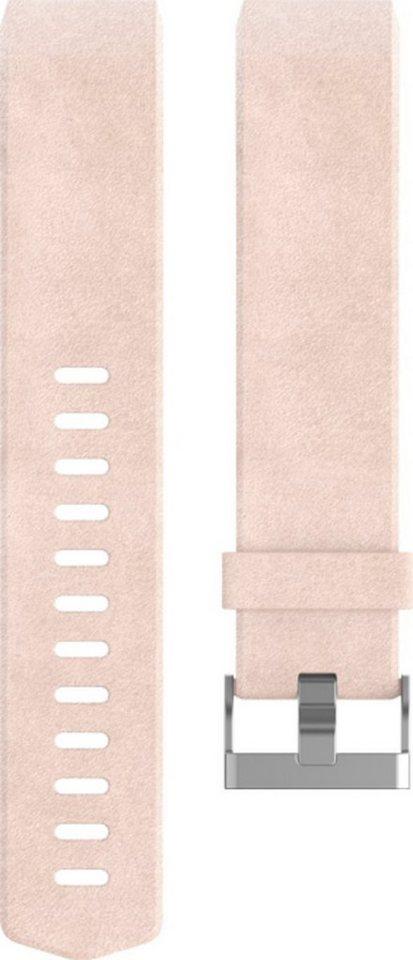 fitbit Ersatz-/Wechselarmband »LederBand für Charge2 (Large)« in Rosa