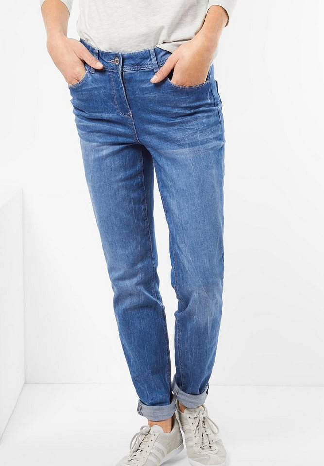 CECIL Bequeme Denim Toronto in electric blue wash