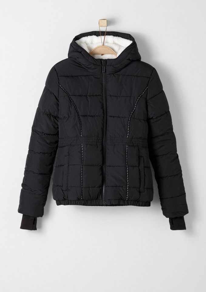 s.Oliver RED LABEL Junior Winterjacke mit Teddyfutter für Mädchen in black