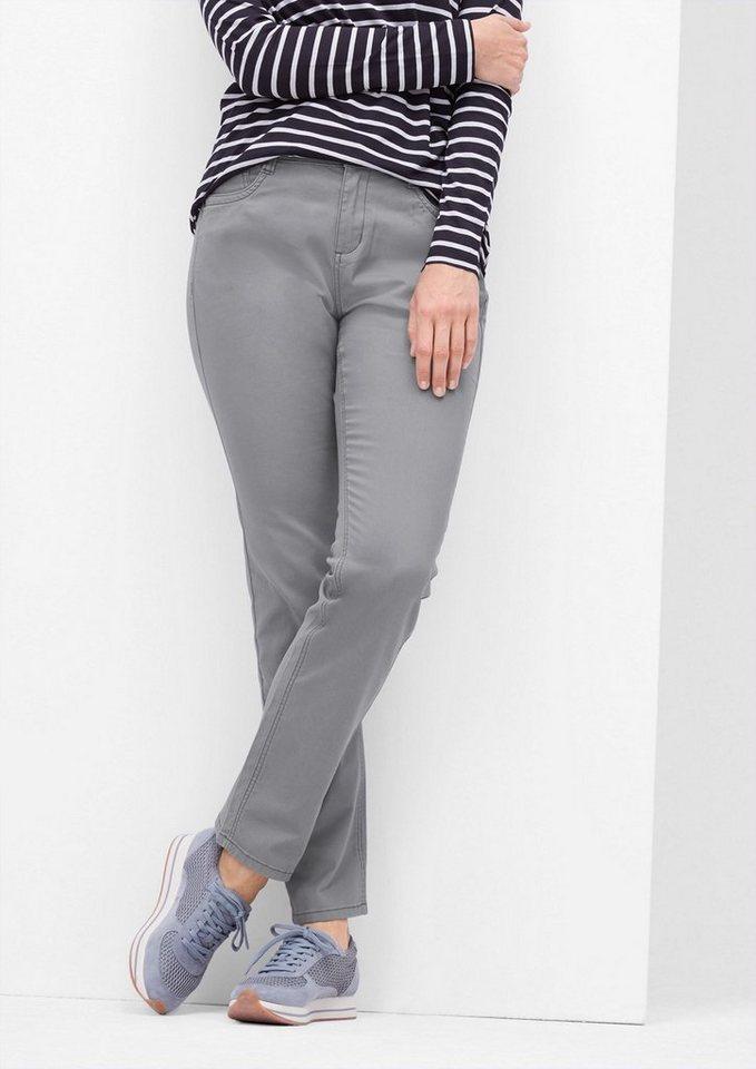 TRIANGLE Curvy: Jeans ohne Wascheffekt in medium grey