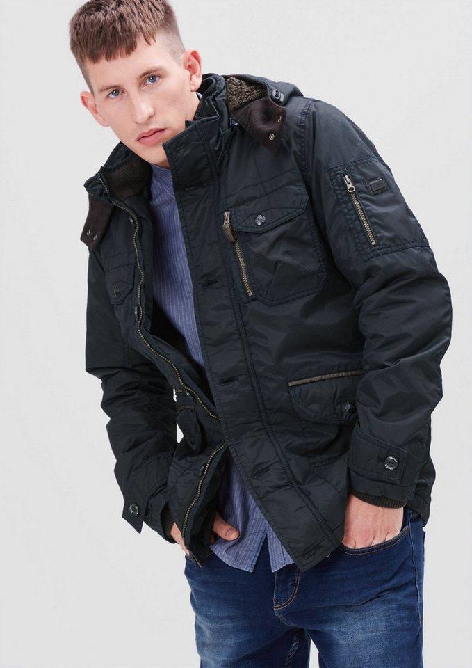 s.Oliver RED LABEL Gefütterte Outdoor-Jacke in blue