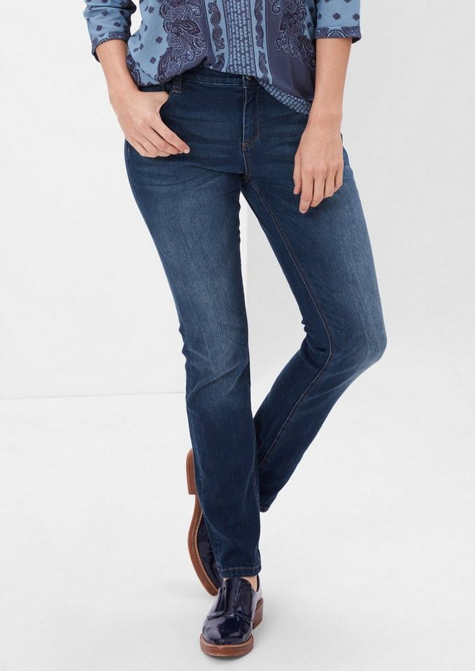 TRIANGLE Curvy: Stretchige Bluejeans in ocean blue