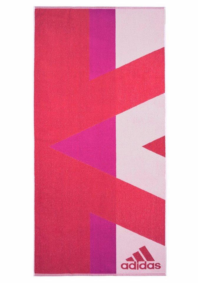 Strandtuch, adidas Performance, »«, mit sportlichem Muster in pink