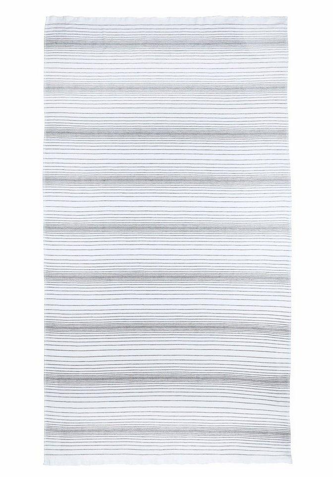 Hamamtuch, my home Selection, »Zoe«, mit dezenten Streifen in weiß-grau