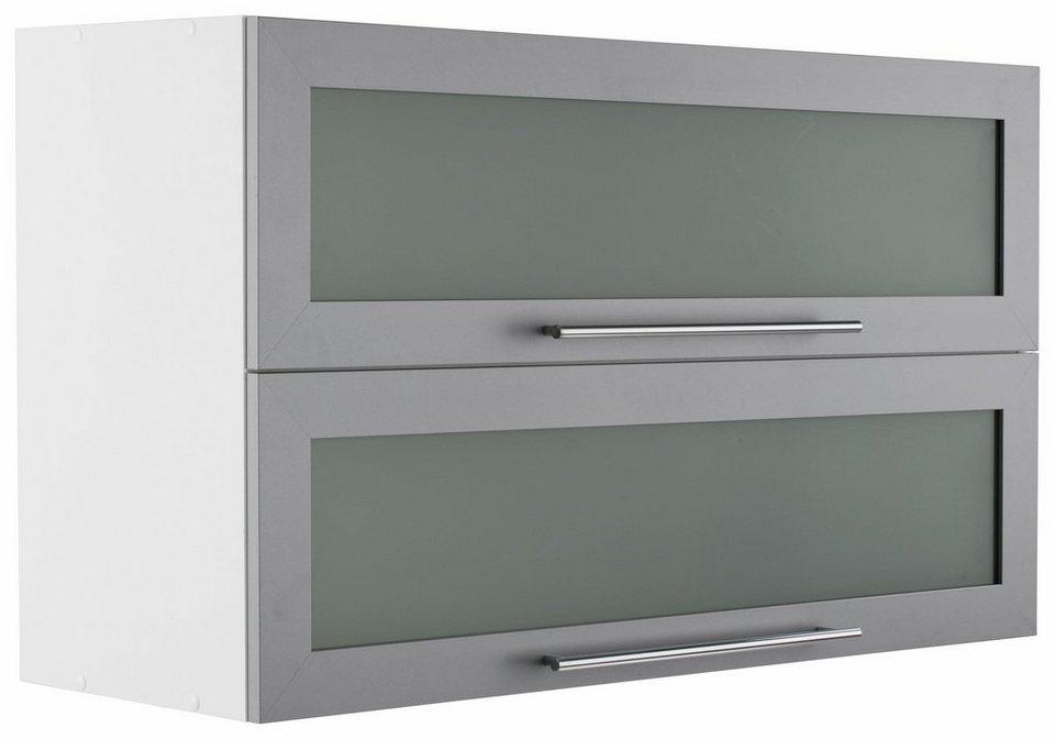 Held Möbel Glashängeschrank »Samos« in alu/weiß