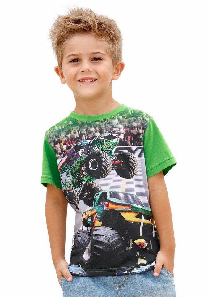 KIDSWORLD T-Shirt mit großem Fotodruck vorn in grün