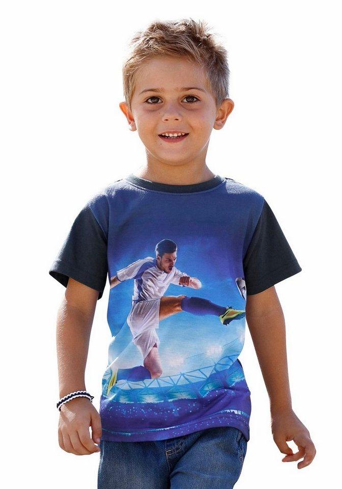 KIDSWORLD T-Shirt mit großem Fotodruck vorn in marine