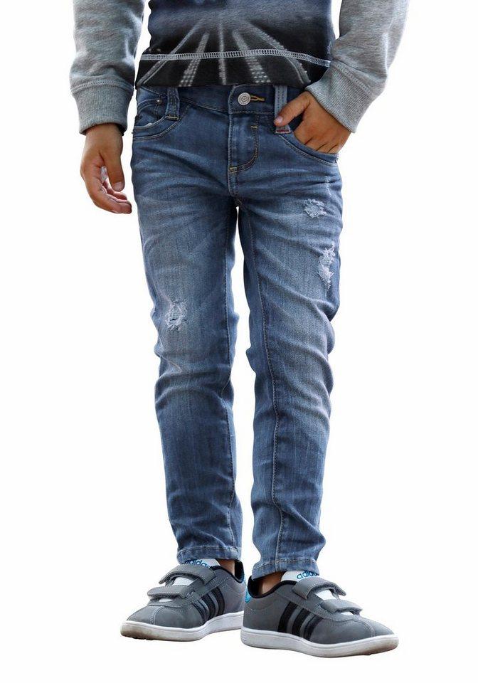 s.Oliver RED LABEL Junior Skinny-fit-Jeans mit destroyed Effekten in blue-denim
