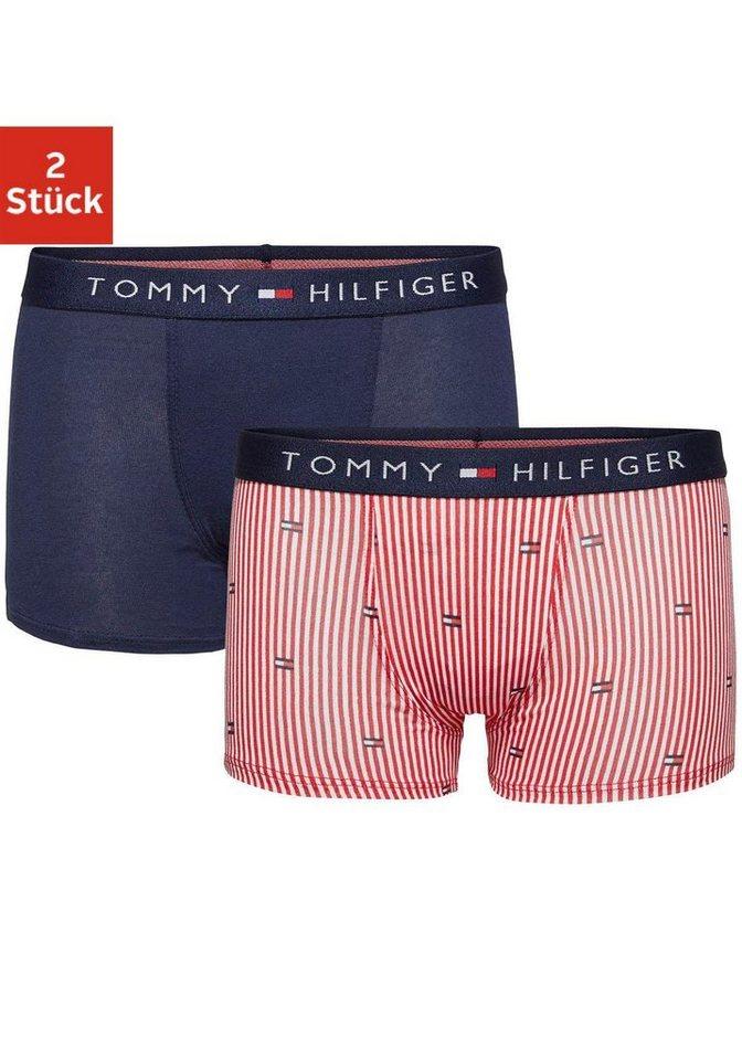 Tommy Hilfiger Boxer (2 Stück) in rot gestreift+navy