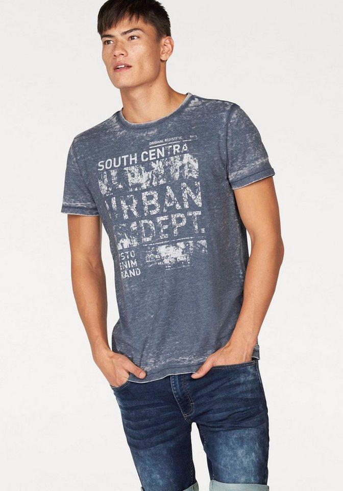 John Devin T-Shirt in grau-washed