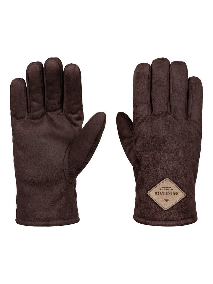 Quiksilver Kunst-Veloursleder-Handschuhe »Faze Daze« in Demitasse