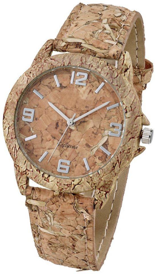 Heine Armbanduhr aus echtem Kork   Uhren > Sonstige Armbanduhren   Braun   heine