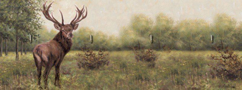 Artland Schlüsselbrett »Tiere Wildtiere Hirsch Malerei Grün« in Grün