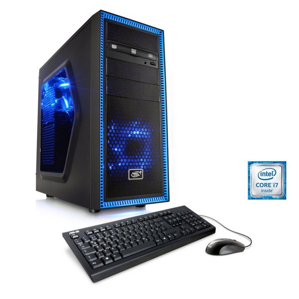 CSL Gaming PC | Core i7-6700K | GeForce GTX 1070 | 16 GB RAM | SSD »Speed T7686 Windows 10 Home«