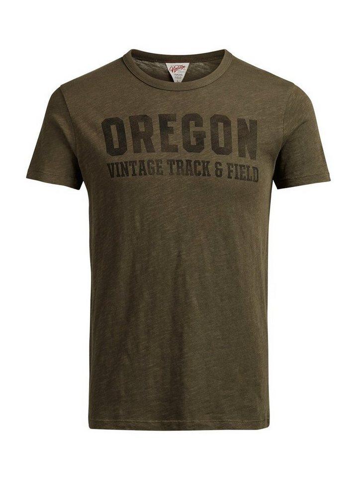 Jack & Jones Bedrucktes T-Shirt in Olive Night
