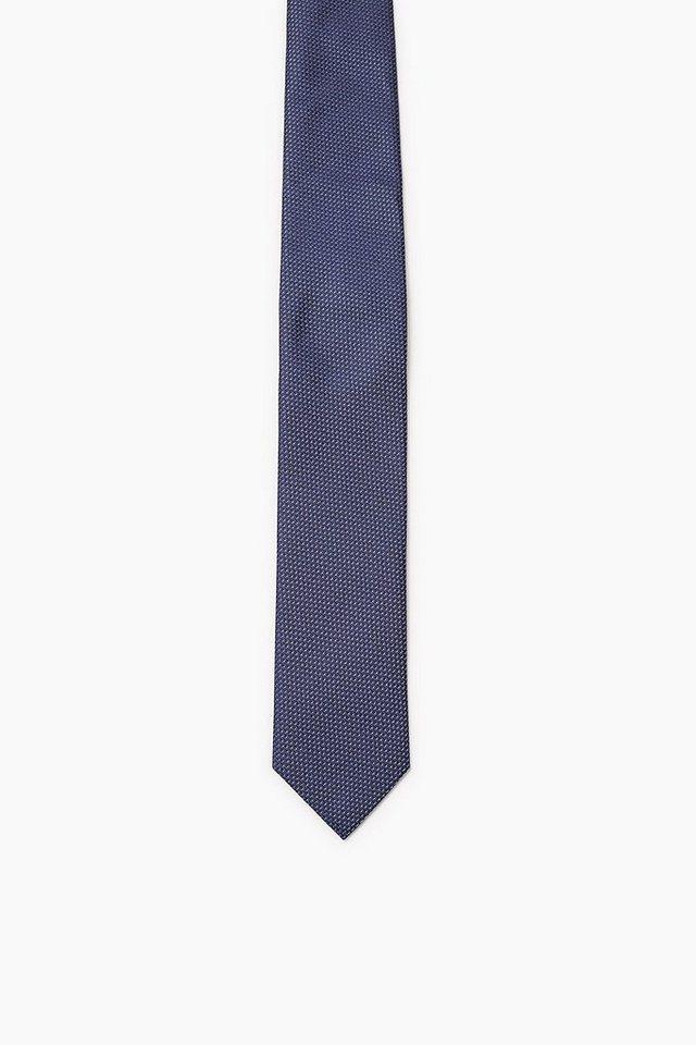 ESPRIT COLLECTION Krawatte mit 2Tone-Struktur, 100% Seide in BLUE