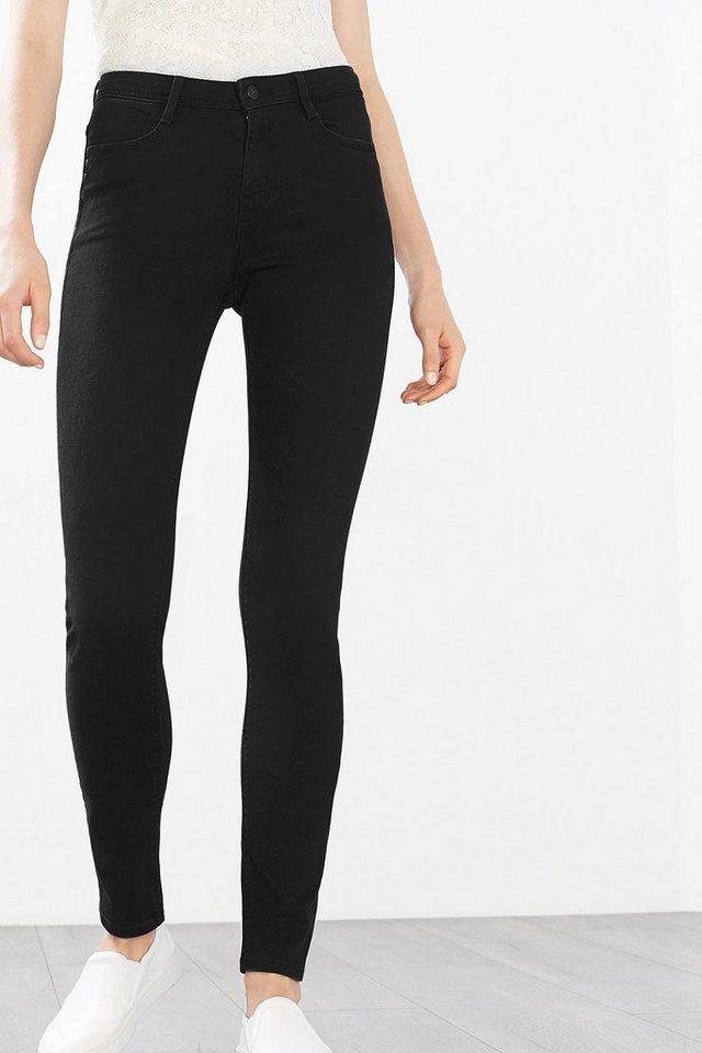 EDC Stretch-Jeans aus Premium Denim in BLACK DARK WASHED