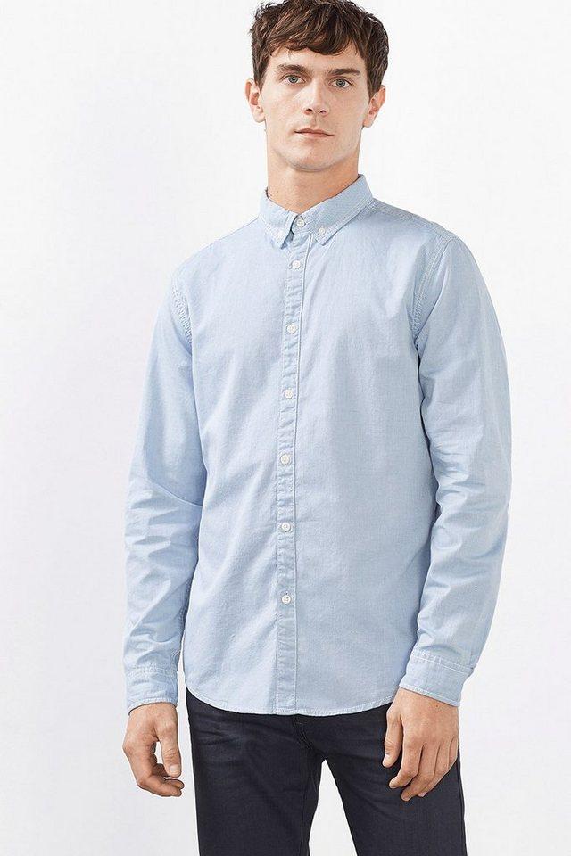 EDC Hemd mit Details, 100% Baumwolle in LIGHT BLUE