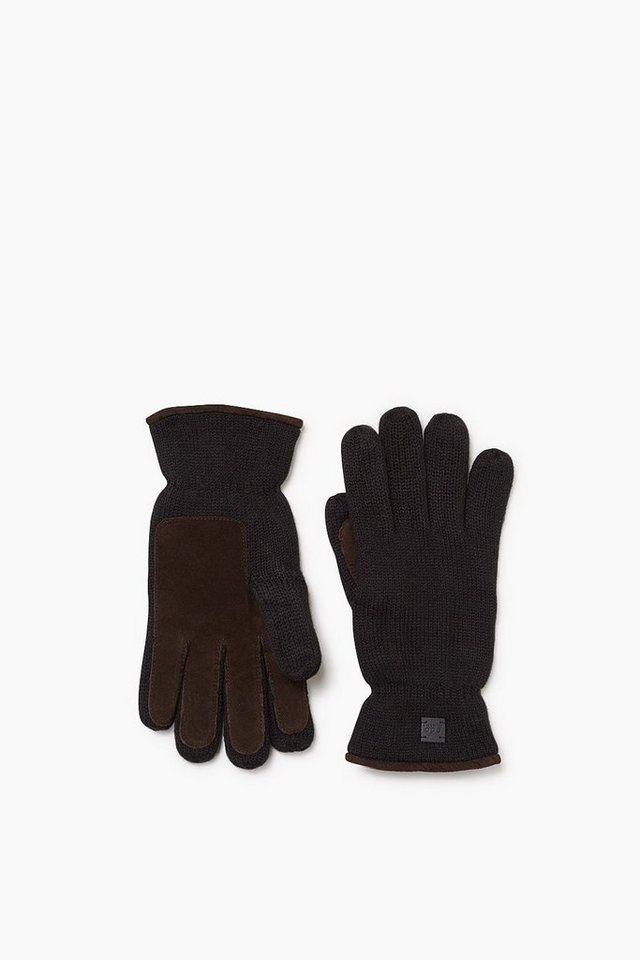 EDC Touchscreen Handschuhe, Woll-Mix in BLACK