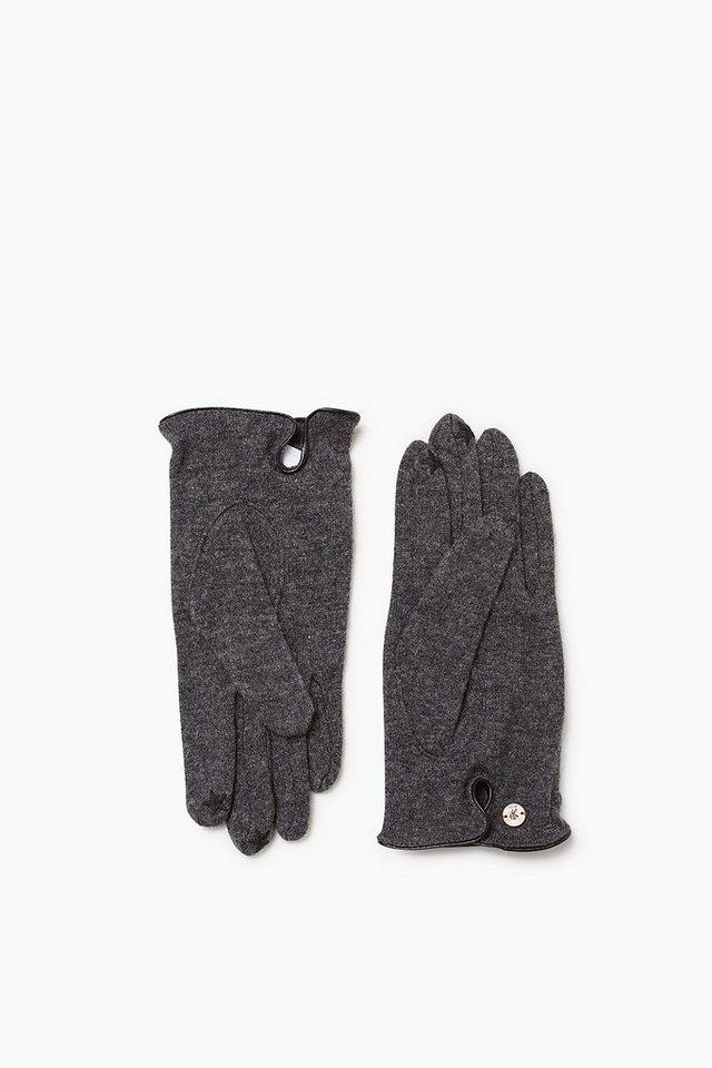 EDC Touchscreen Handschuhe, Woll-Mix in MEDIUM GREY